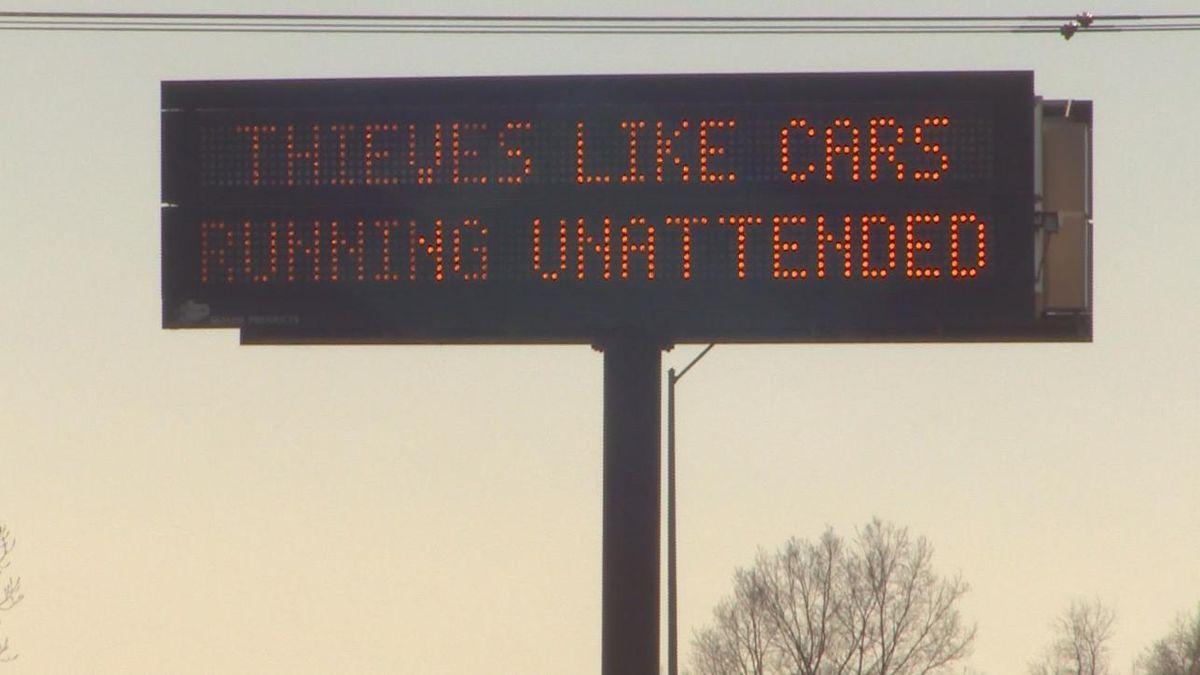 A sign during a previous puffer enforcement week.