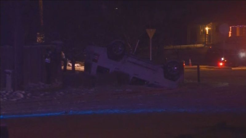 Colorado Springs Police investigating rollover accident