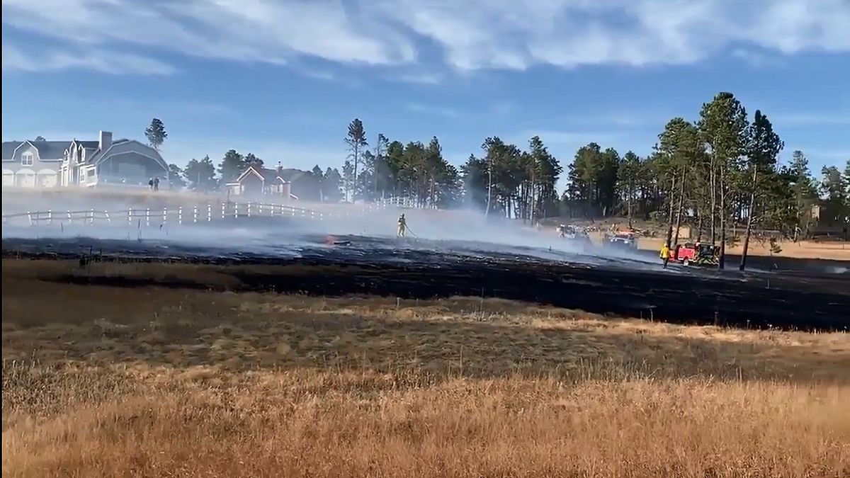 Photo of a grass fire in the Black Forest area on 10/14/20