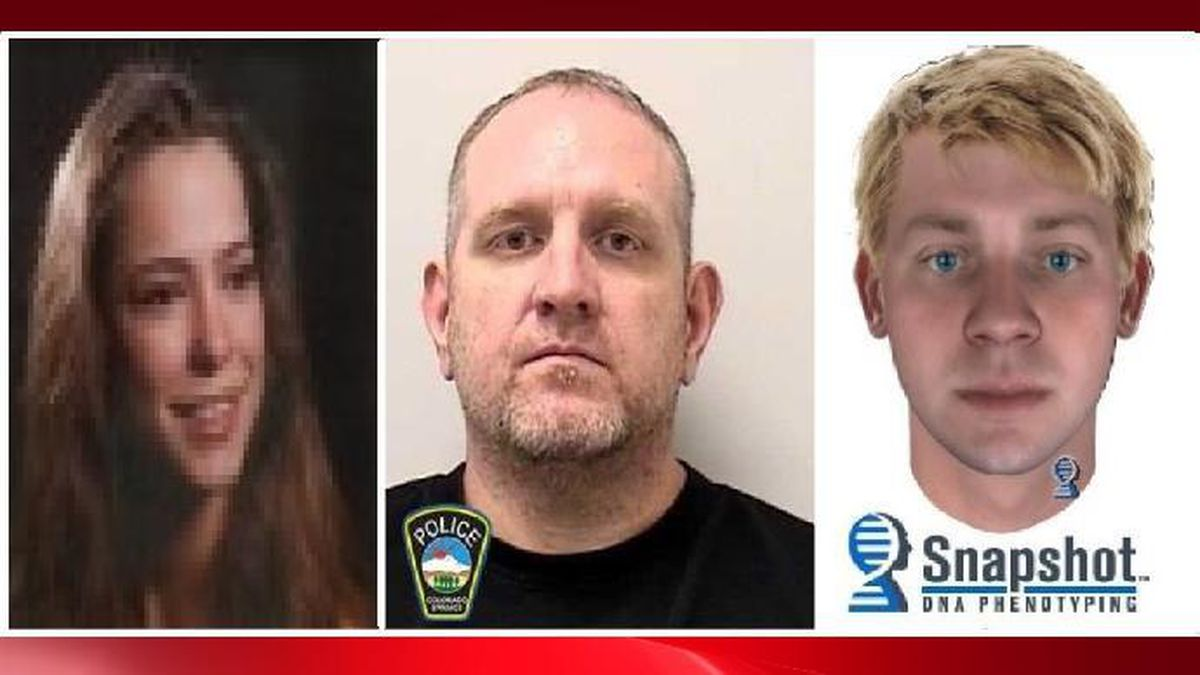 Left: Mary Lynn Vialpando. Middle: Suspect, James Papol.  Right: DNA Phenotyping of the suspect released before the arrest of Papol.
