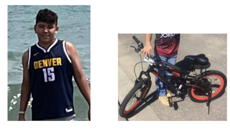 CBI says 11-year-old Chase Harrison was last seen riding his bike in the 100 block of Altadena...
