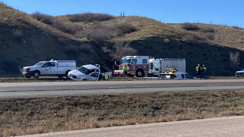 One person died following a possible medical emergency along I-25 on Monday. 3/1/21.