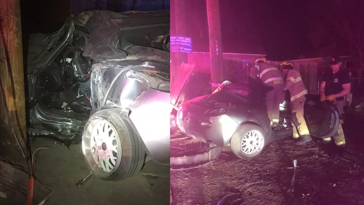 A woman is in the hospital with serious injuries following an alleged DUI crash in Pueblo...