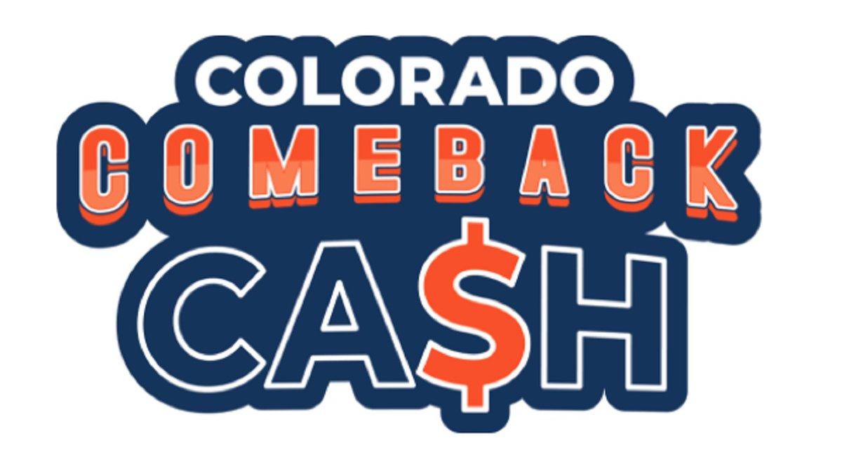 Colorado Comeback Cash graphic.
