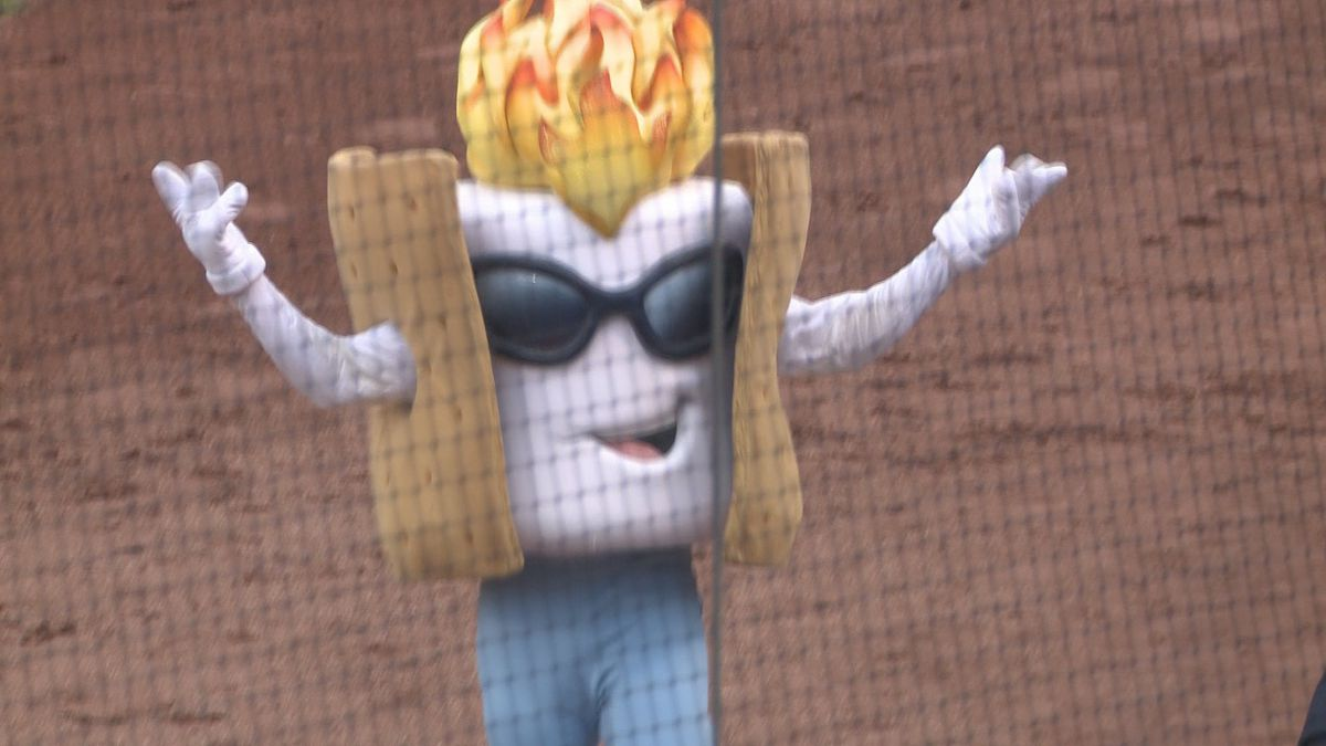 Toasty entertains the crowd Saturday at UCHealth Park