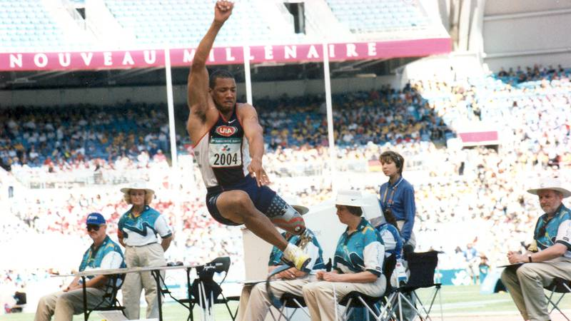 John Register competing in the Olympics in Sydney, Australia in 2000.