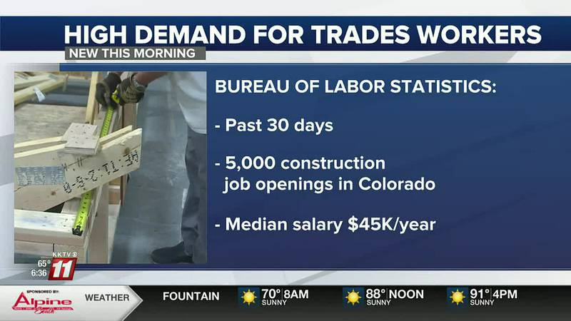 Bureau of Labor statistics show, 5 thousand construction jobs were listed in Colorado in the...