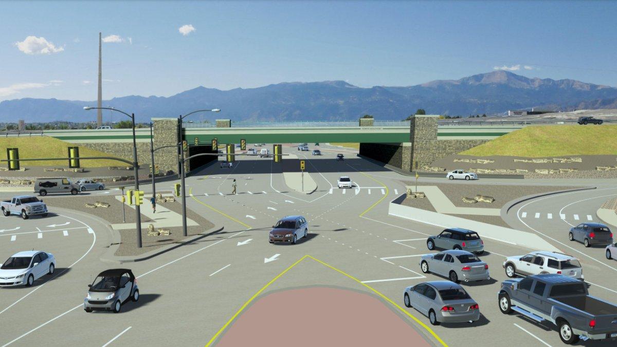 Powers Boulevard and Research Parkway Bridge Rendering