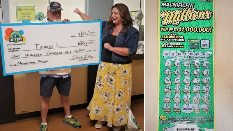 An Aurora man won big playing a scratch ticket.