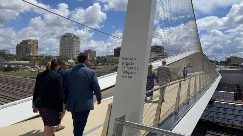 City officials spent held a ribbon-cutting ceremony Thursday morning for the Park Union Bridge...