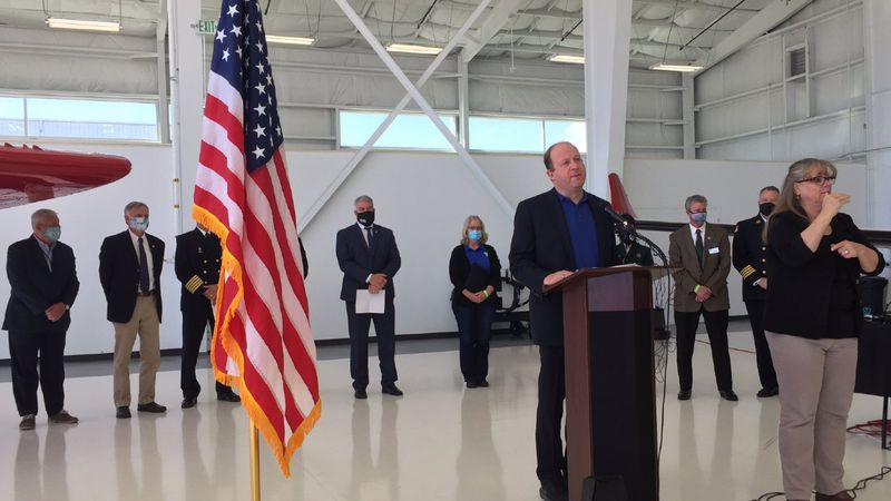 Governor Jared Polis and Federal Wildland Fire Agencies gave an update Thursday morning to give...