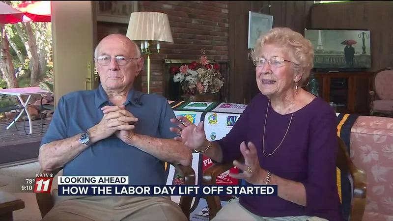 Dewey and Jeanie Reinhard share the beginnings of the annual Colorado Springs balloon festival.