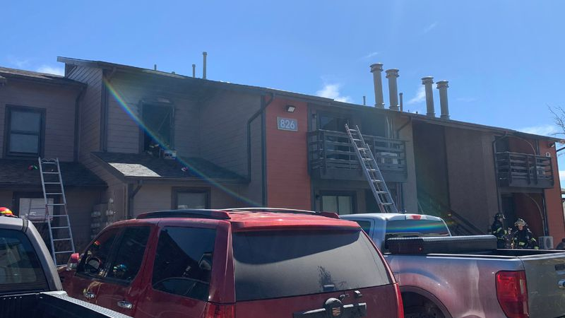 Colorado Springs Fire and Cimarron Hills Fire are currently on scene of a structure fire.