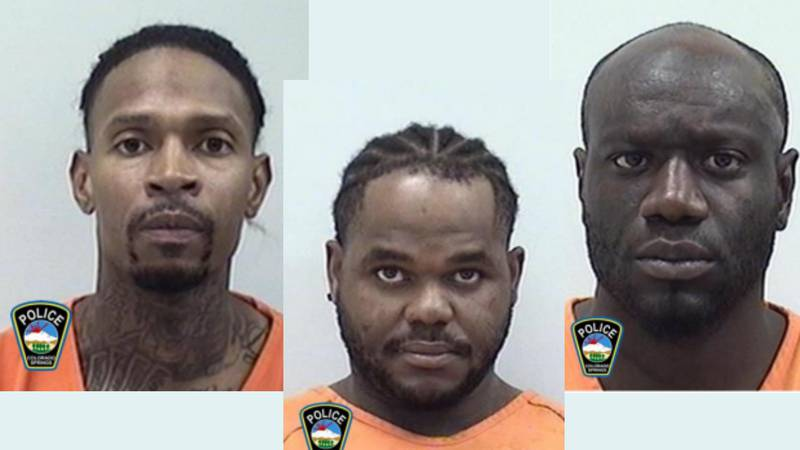 Arrest photos for Lawrence Wooten, Chad Williams, and Paris Toler-Anderson.