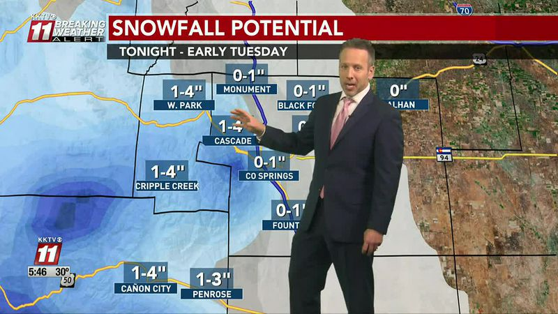 Snow wraps up early Tuesday