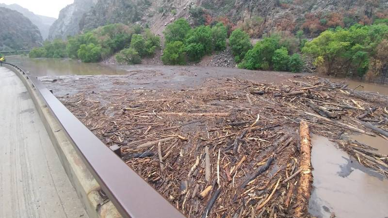 I-70 was closed on 7/22/21 in the Glenwood Canyon area because of a mudslide.