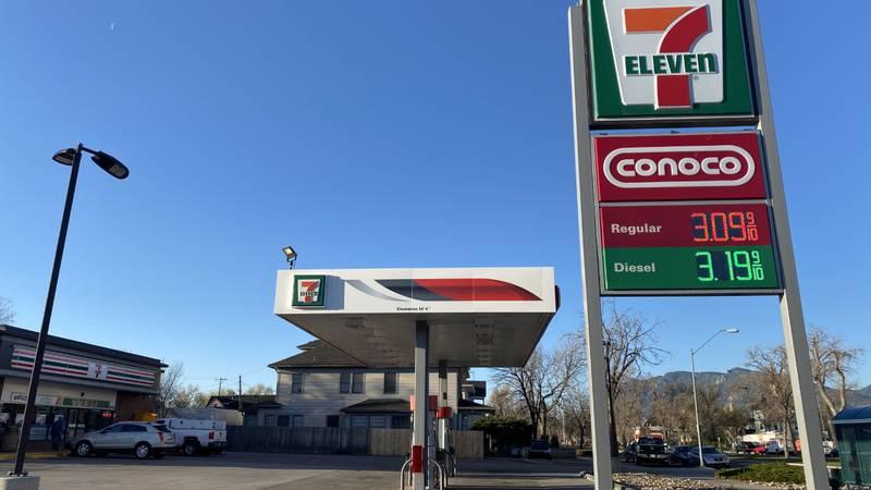 Increased gas prices in Colorado Springs