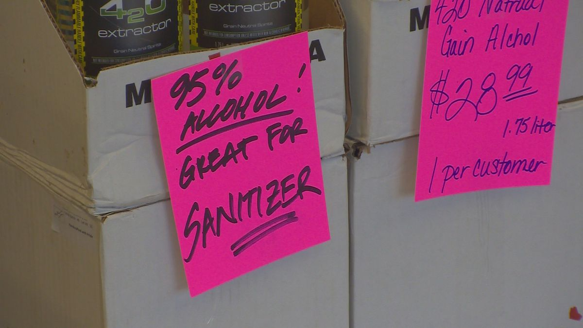 Not only are customers buying alcohol to drink, Cheers Liquor Mart said people are also using it to make their own hand sanitizer.