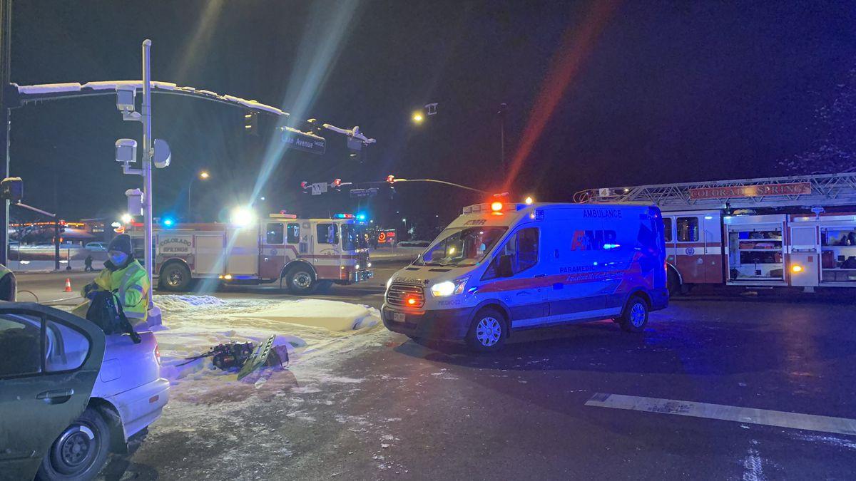 Fire crews responding to a crash.