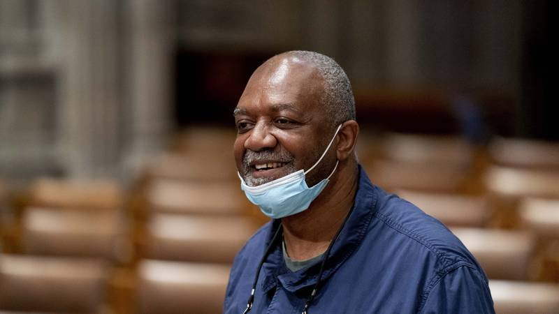 Artist Kerry James Marshall, who has been selected to design a replacement of former...