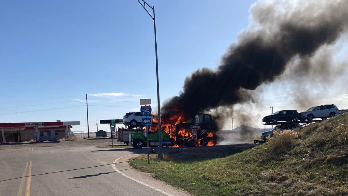 I-25 northbound near the Aguilar exit, exit 34, is closed due to a semi fire.