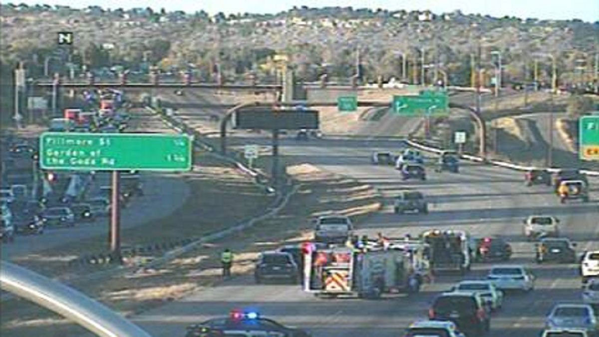 Crash on I-25 in the northbound lanes near the Fontanero exit. 10/13/20