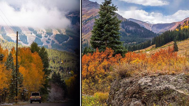 On the left: Photo from Briggs and Early in the Breckenridge area.  On the right: Photo from...