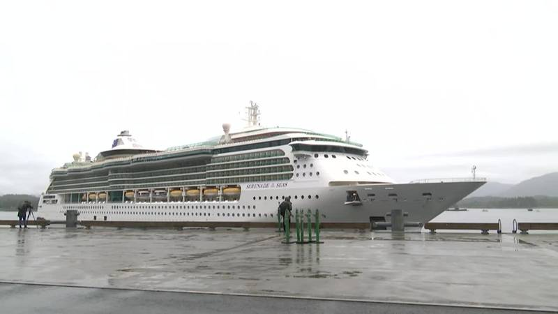 The first large cruise ship to dock in Alaska in almost two years arrived in Ketchikan early...
