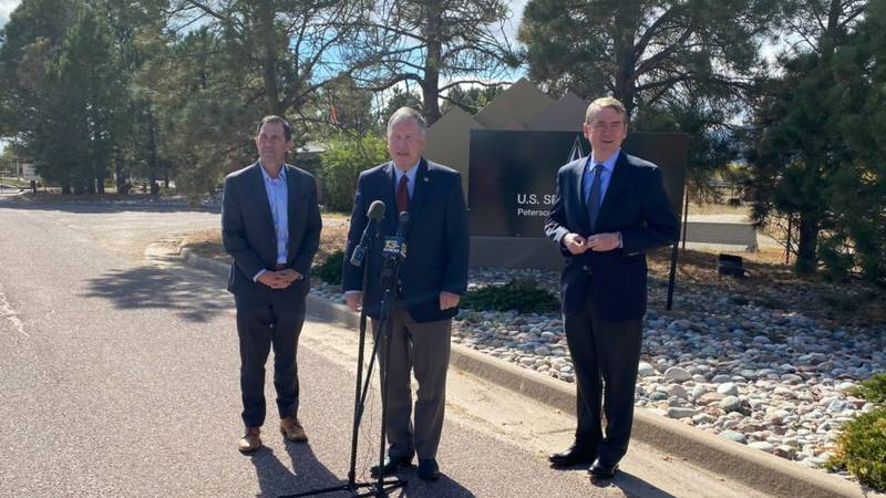 Congressman Doug Lamborn, Congressman Jason Crow, and Senator Michael Bennet will tour military...