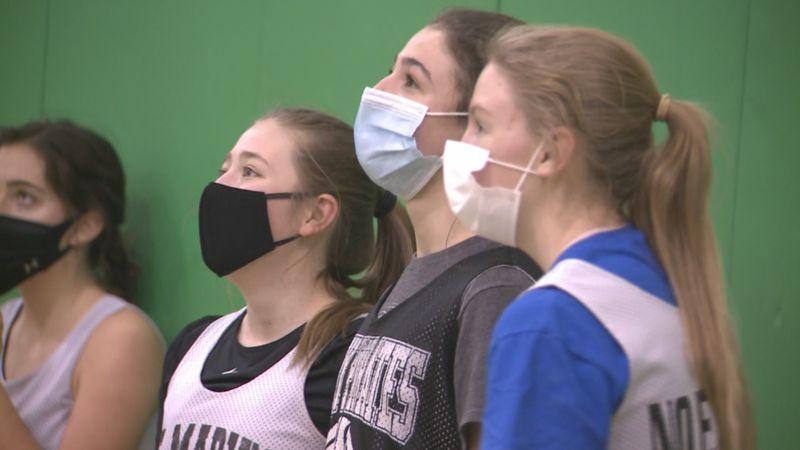St. Mary's girls basketball team practices Wednesday ahead of the 2021 CHSAA basketball season