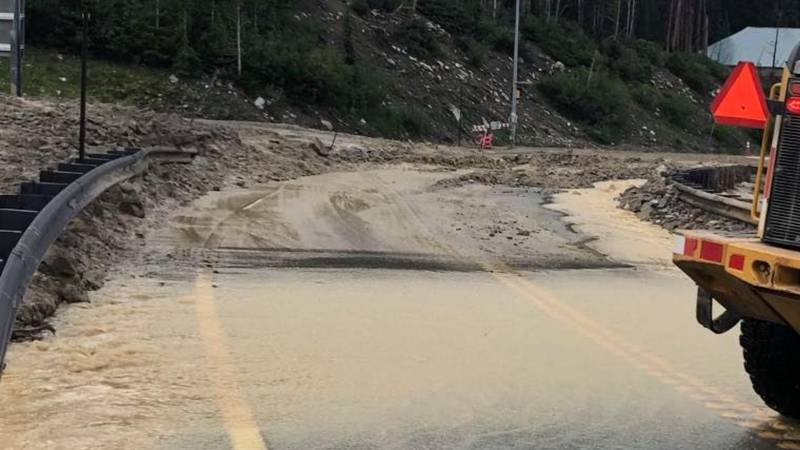 CDOT has closed U.S. 6 over Loveland Pass Saturday because of a mudslide in the area near...