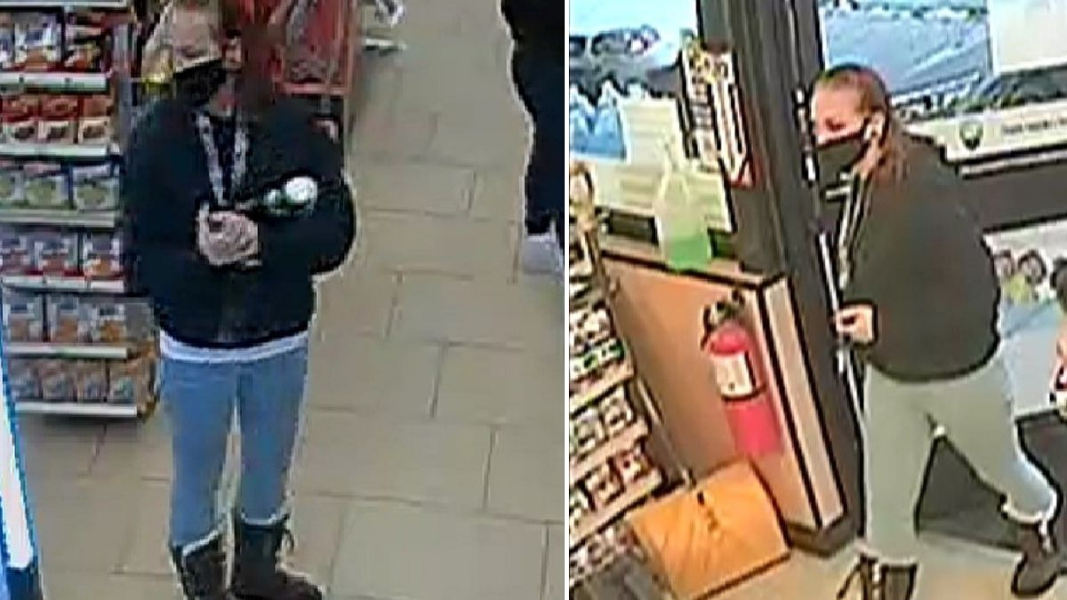 Surveillance stills of Alison Cantrell taken at the 7-Eleven at 1011 S. 21st St. on March 13,...