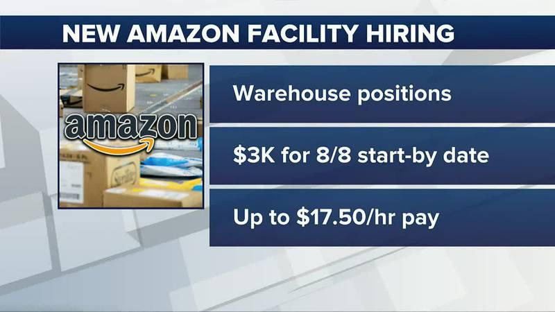 Amazon hiring warehouse positions