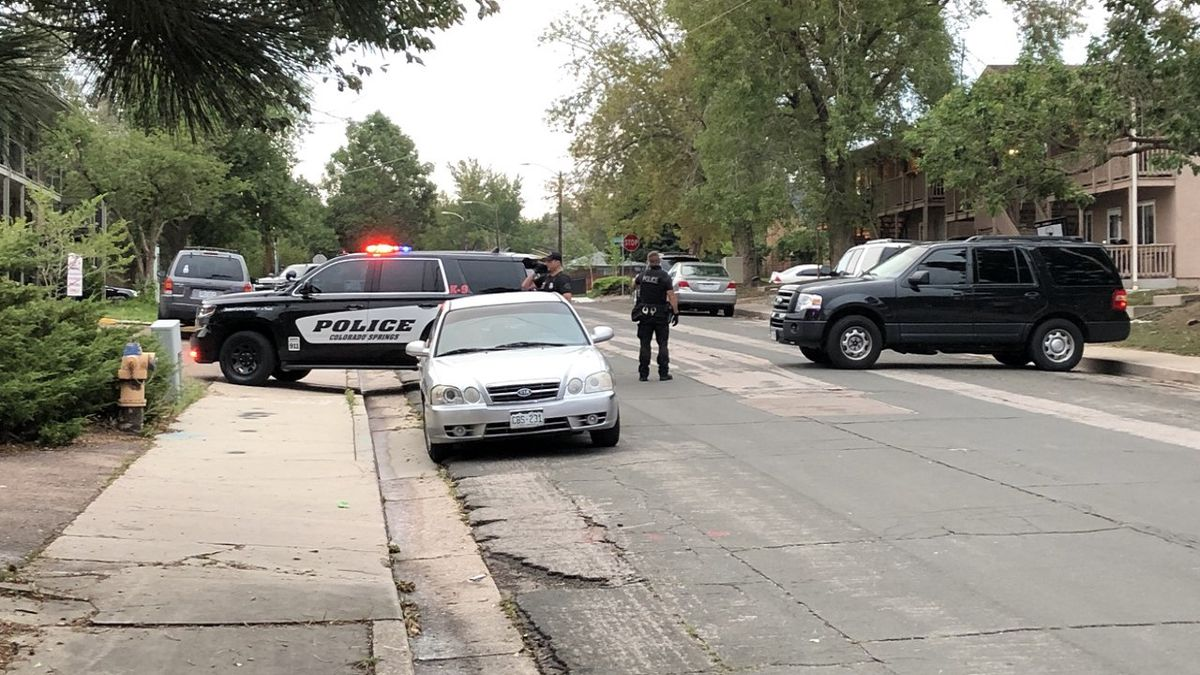 Standoff in Colorado Springs Aug. 19, 2020 in the area of Delaware and Galley.