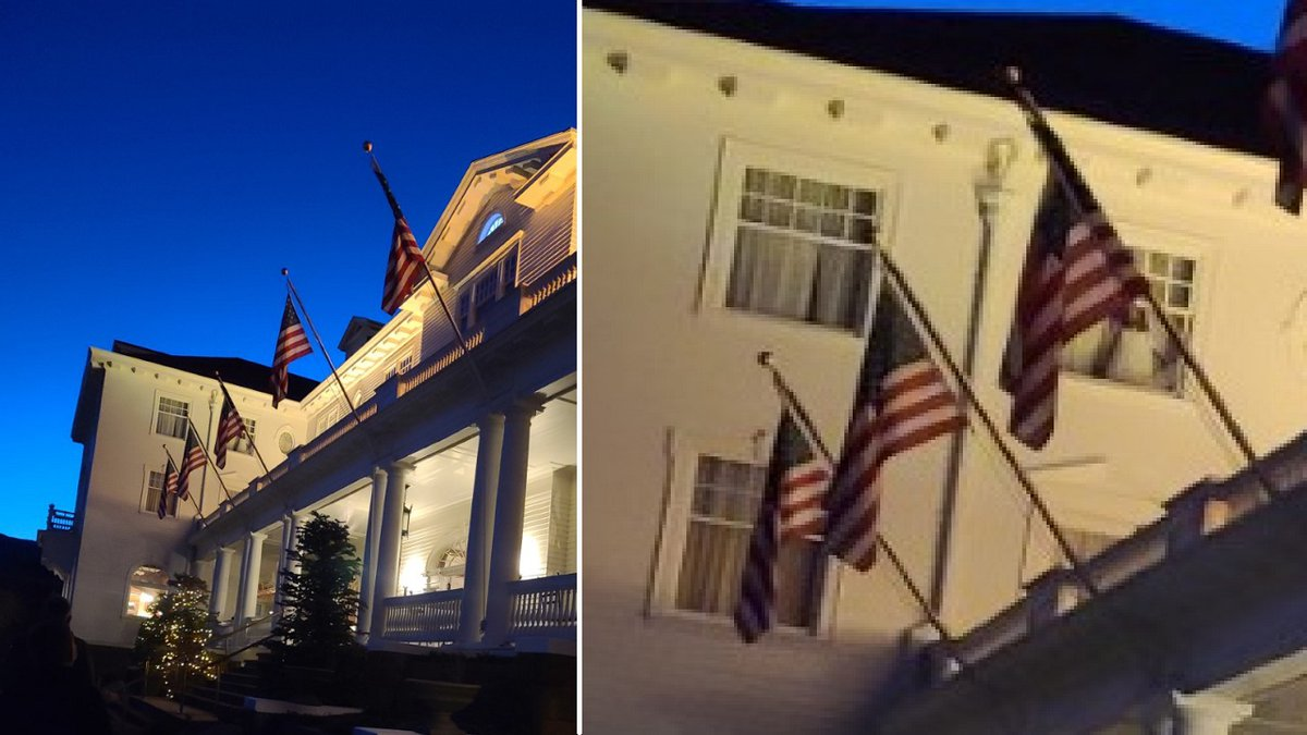 A woman from Texas snapped a photo of the Stanley Hotel and she believes she may have...