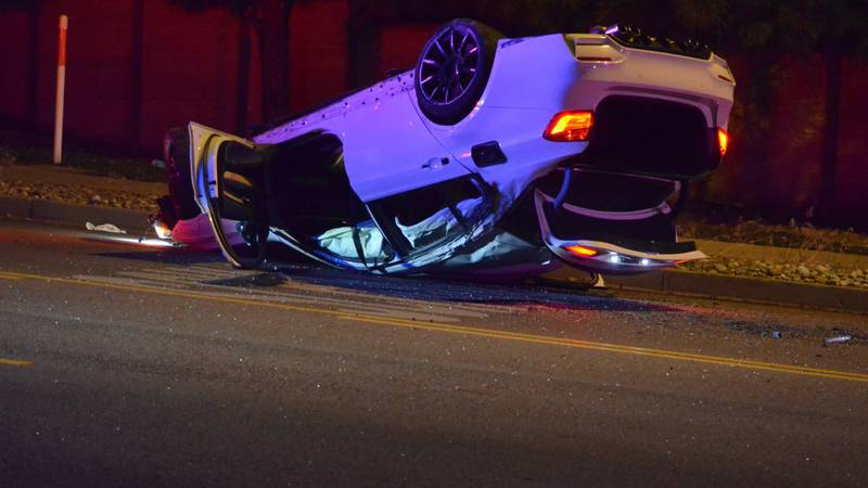 The rollover on Palmer Park Boulevard west of Powers was one of three crashes in Colorado...