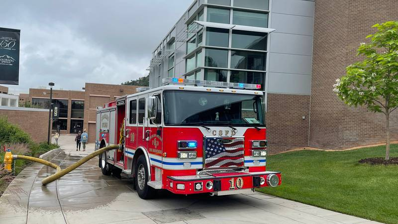 Colorado Springs Firefighters are on scene of a small fire at the large gym at UCCS. Fire crews...
