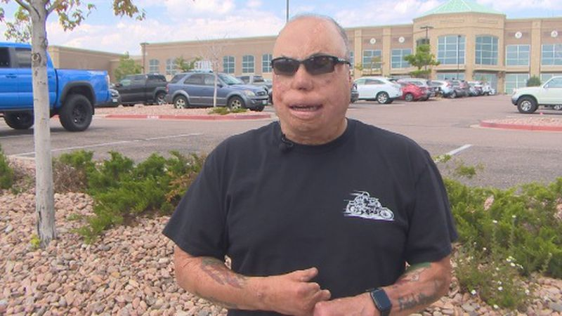 Senior Master Sgt. Israel Del Toro outside of Life Time Fitness in Colorado Springs
