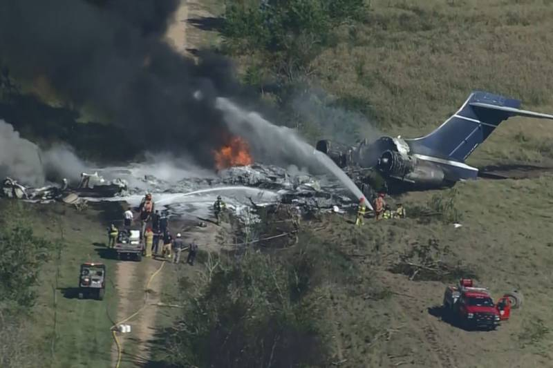 The Texas Department of Public Safety says all on board survived the crash.