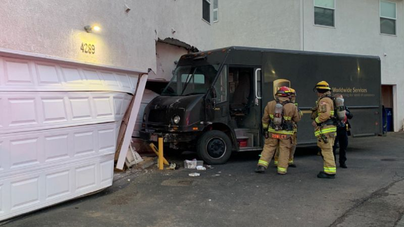 UPS truck crashed into a home in Colorado Springs on 11/24/20.