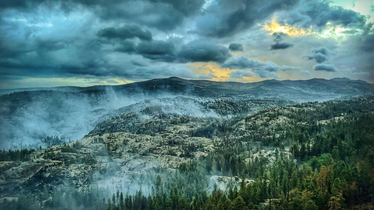 Interior smoke on the Caldor fire on September 9, 2021 in Division QQ.