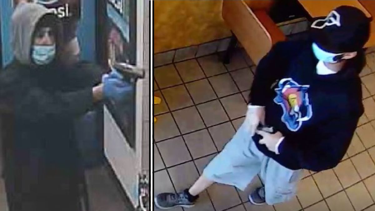 Photos of an armed robbery suspect in Colorado Springs.