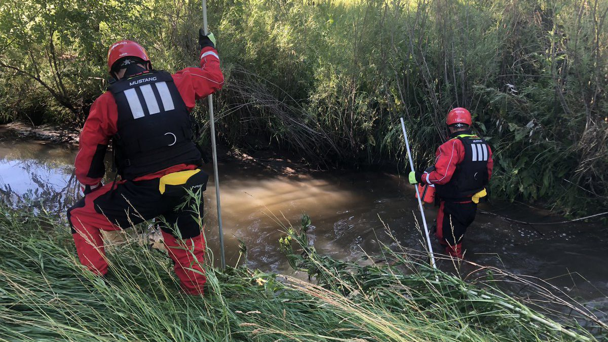 Firefighters search for the victim Sunday, July 21, 2019. (Photo: West Metro Fire)
