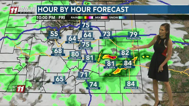 Warm tomorrow, a few storms