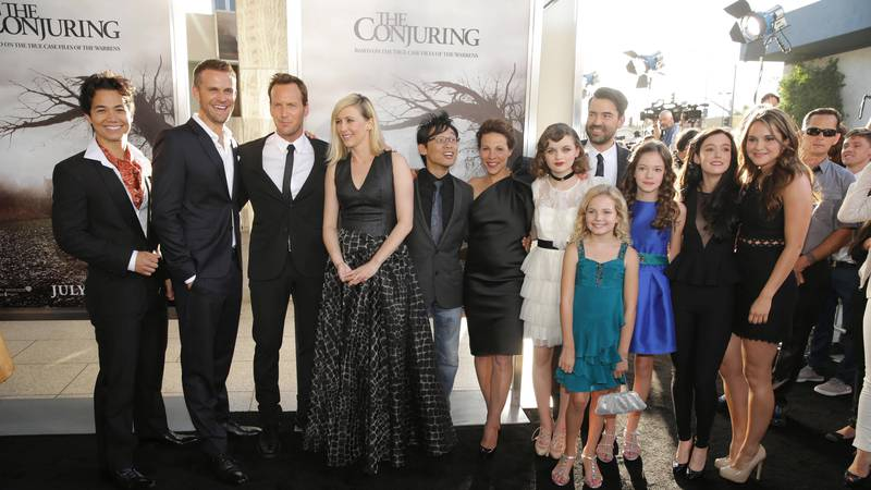 FILE - Cast of 'The Conjuring' seen at New Line Cinema's 'The Conjuring' Premiere, on Monday,...