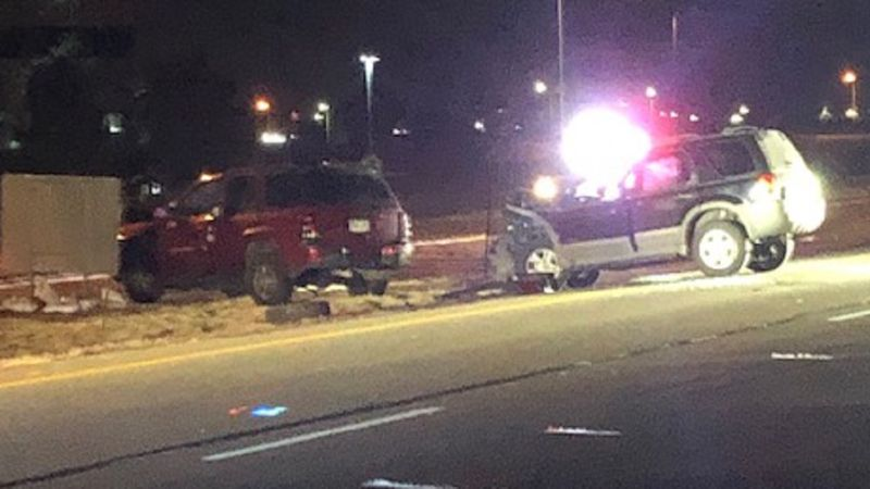 Suspected DUI crash in Colorado Springs 12/1/20.