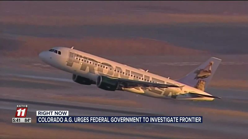 Colorado Attorney General Asks Federal Government to Investigate Frontier Airlines