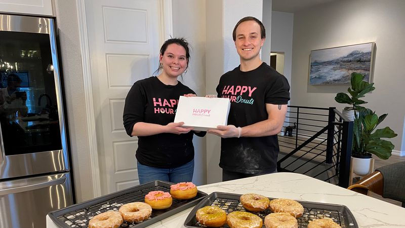 Couple creates boozy doughnut business after losing jobs to COVID-19