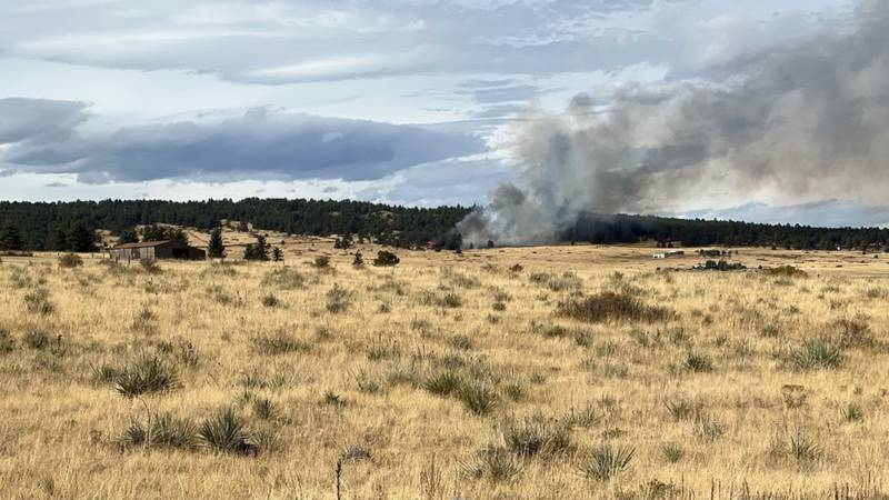 Fire burning in area of 19000 Block of Birdseye View, north of Peyton