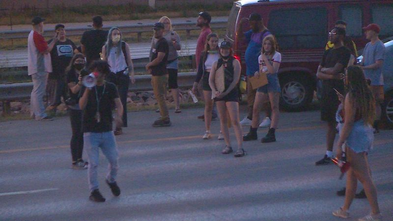 June 30, 2020 protesters blocked I-25 in Colorado Springs as part of the BLM movement.
